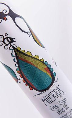Miterra Olive Oil #etikettendesign #packaging