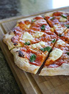 Gourmandises végétariennes: Pizzateig mit langer Teigführung