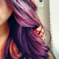 Color for Fall; Burgundy plum with a dark base hair style