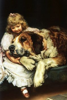 """""""So Tired"""" or """"Her First Love"""" -- by Arthur John Elsley (1860--1952, English)"""