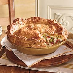 Double-Crust Chicken Pot Pie | This recipe may just replace your old, tried-and-true chicken pot pie recipe. Use refrigerated piecrusts to make this supper an easy, must-have.