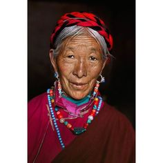 I photographed this woman at the Ganden Monastery near Lhasa, Tibet.