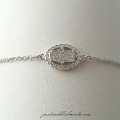 Hamsa crystal pavéd bracelet