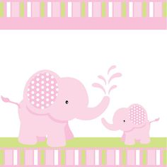 Pink Elephant Baby Shower or Birthday Custom by blackleafdesign, $25.00