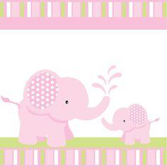 Elefante rosa bebé ducha o cumpleaños por blackleafdesign en Etsy …