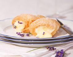 Rollen mit Lavendelschnee