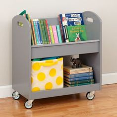 Local Branch Library Cart (Grey)  | The Land of Nod