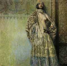 Armenian artist Vardges Surenyants (1860-1921). There isn't much biographical information about him on the internet but I love this painting. I had never heard of him before today.