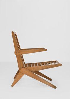 Lina Bo Bardi.Pool chairs. Manufactured by Studio d´Arte Palma Brasil, 1949 Caviuna wood