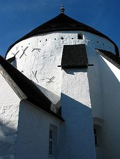 Bornholm, Denmark  Another pinner explained that this is one of four round churches that were originally built as fortresses.
