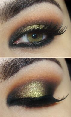 face it blog: gorg green/copper smokey eye for green eyes makeup