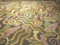 Art deco carpet aboard the Queen Mary in the ballroom