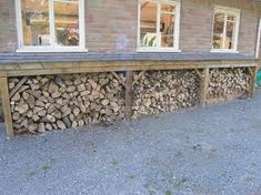 You want to build a outdoor firewood rack? Here is a some firewood storage and creative firewood rack ideas for outdoors. Outdoor Firewood Rack, Firewood Shed, Firewood Storage, Shed Storage, Storage Ideas, Log Shed, Stacking Wood, Townhouse Garden, Outside Storage
