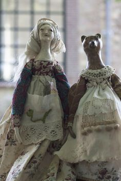 Wyllow & Brønja - art dolls of the Witches of the Equinox collection by Pantovola