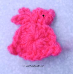 easter crafts ideas: bunny hair clip for a little girl | make handmade, crochet, craft