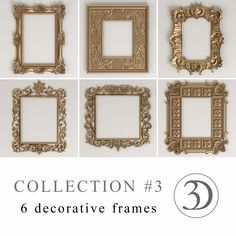Collection #3 - 6 decorative frames