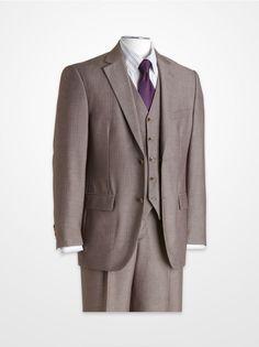 Men's Suits - Steve Harvey Gray Multistripe Suit Big Man Suits, Mens Suits, Steve Harvey Suits, Grown Man, Well Dressed Men, Men Looks, Dress Codes, Men's Clothing, Men's Style
