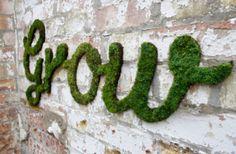 green living ideas diy | DIY Garden Ideas - Living Green Moss Graffiti