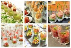 10 aperitivos salados para servir en vasitos de vidrio - IMujer Shot Glass Appetizers, Appetizers For Party, Healthy Finger Foods, Healthy Recipes, Mezze, Xmas Food, Food Humor, Tasty Dishes, Brunch