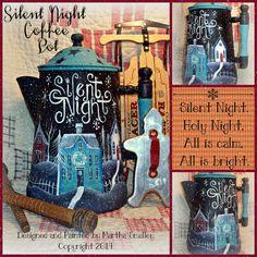 Apple Tree Cottage Original Design E Pattern - Silent Night Coffee Pot Pattern