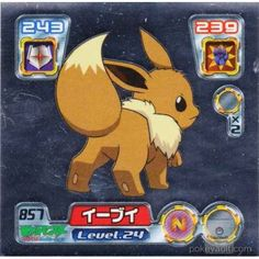 Pokemon Center 2005 Retsuden Series #9 Eevee Foil Sticker