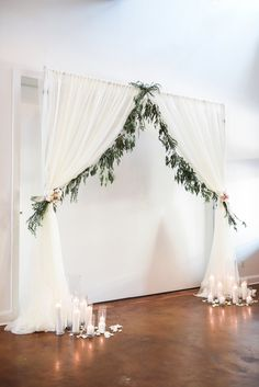 Linen and greenery a