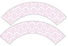 Дамаски Pink: Опаковчици за тарталети за свободен печат.