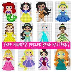Perla bead templates for Disney Princesses