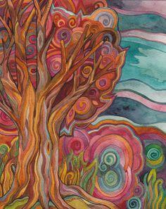 Megan N Smith -  Autumn Tree