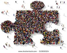 group photo in shape of puzzle piece - Google Search