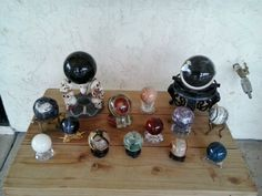 Some of my collection, including crystal ball made from space shuttle window!