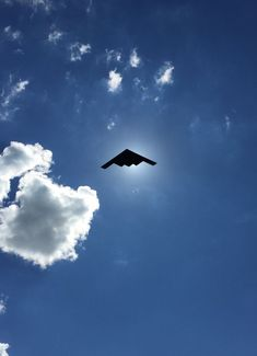 Took A Picture Of A Stealth Bomber Flyover, Was Not Disappointed With The Timing
