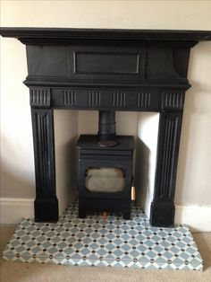 Debdale wood burning fire.  Reclaimed cast iron surround.  Fired earth tiles.  Toasty.