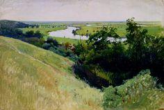Левченко. Пейзаж с рекой. На Харьковщине. 1900-е