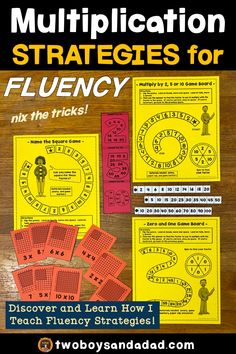 Are you teaching multiplication fluency strategies? Multiplication Activities, Math Math, Math Fractions, Math Games, Maths, Teaching Math, Elementary Teaching, Teaching Resources, Teaching Ideas