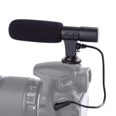 Photography Interview Shotgun Mikrofon Stereo Recording Video Microphone For CANON NIKON PENTAX Panasonic DSLR Camera/Cam Mic #Affiliate