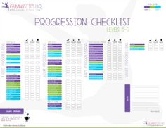 Gymnastics skill progression checklists-- Levels Levels Xcel Bronze and Silver and Xcel Gold, Platinum and Diamond Gymnastics Warm Ups, Gymnastics Levels, Gymnastics Camp, Preschool Gymnastics, Gymnastics Tricks, Tumbling Gymnastics, Gymnastics Skills, Gymnastics Equipment, Gymnastics Poses