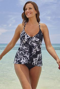 6ffe9239762 Shore Club Women s Berkshire Flyaway Underwire Tankini     Be sure to check  out this. Plus Size TankiniPlus Size SwimwearSwimsuits ...