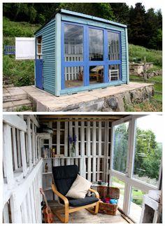 Pallet Shed #Cabin, #Garden, #PalletShed, #RecycledPallet