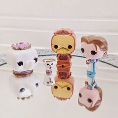 Beauty & The Beast Funko Pop collection: Mrs Potts Chip Cogsworth Belle