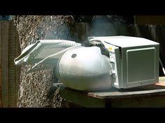 電子レンジをぶっ飛ばすぶっ飛んだ実験 電子レンジでエアバッグのユニットを加熱してみた - http://naniomo.com/archives/9113