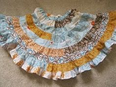 Jelly Roll Twirl Skirt - Sewing long skirt patterns like this Jelly Roll Twirl Skirt can be so much fun! Once it's done, twirl around and show off your handiwork!