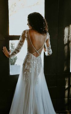 Lace Long Sleeve Wedding Dress with Statement Back - Stella York Wedding Dresses