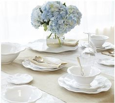 Ruffle Dinnerware Collection | Classic and flirty, a fun way to change up dinner for the spring and winter!