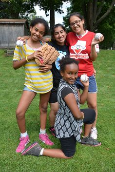 Softball is a sport that's new to our Jumpstart Athletes in Motion (AIM) Sports Camp this year!
