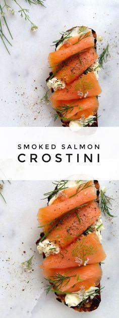 Smoked Salmon Crostini with Mascarpone Cheese   http://CiaoFlorentina.com @CiaoFlorentina