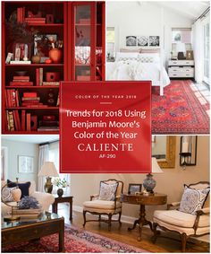 Recently, Benjamin Moore has revealed their 2018 color of the year, Caliente. This particular shade of red is just as is sounds; spicy, radiant, and full of energy. Check out our favorite ways to incorporate Caliente into your life