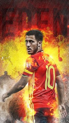 Eden Hazard ~ Belgium - My Wallpaper Hot Football Fans, Neymar Football, World Football, Chelsea Fc, Chelsea Soccer, Real Madrid, Eden Hazard Wallpapers, Soccer Stars, Football Wallpaper