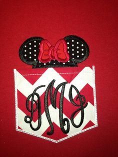Minnie monogrammed pocket tee