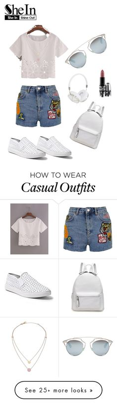 """""""Casual"""" by littlestyledoll on Polyvore featuring Topshop, Steve Madden, Frends, Christian Dior, Michael Kors and MAC Cosmetics"""